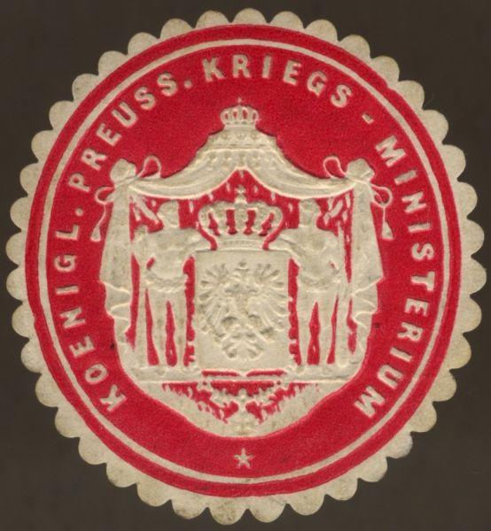 Siegelmarke des Königlich Preußischen Kriegsministeriums
