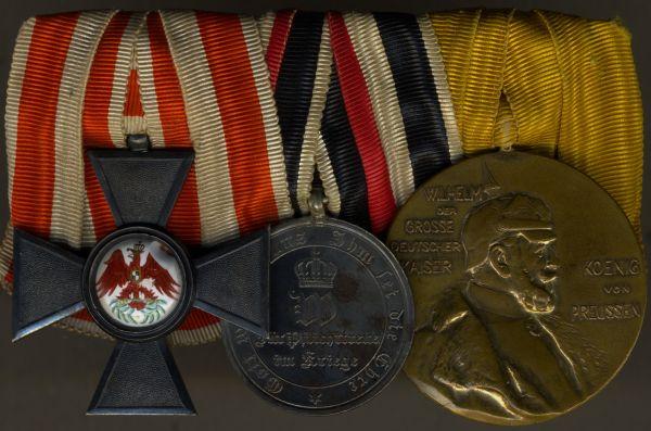 3er Ordensschnalle eines preußischen 1870/71-Nichtkämpfers
