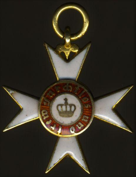 Miniatur - Württemberg, Orden der Württembergischen Krone Ritterkreuz (2. Klasse)