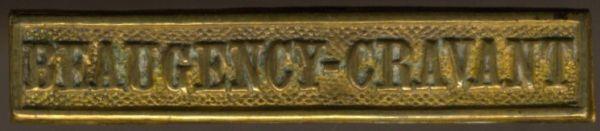 """Preußen, Gefechtsspange """"BEAUGENCY-CRAVANT"""" zur Kriegsdenkmünze 1870/71"""