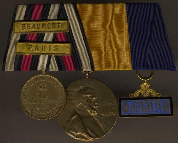 3er Ordensschnalle eines 1870/71-Veteranen