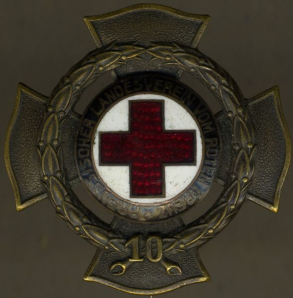 (Freistaat) Preußen, Ehrenzeichen des Landesvereins vom Roten Kreuz für 10 Jahre - Godet / Berlin