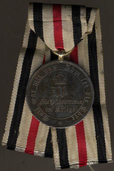 Preußen, Kriegsdenkmünze 1870/71 (Stahl) am Nichtkämpferband