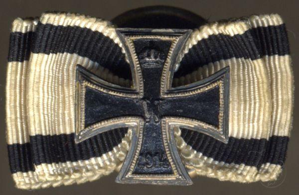 Knopflochdekoration - Eisernes Kreuz 1914 für Nichtkämpfer - J. Godet & Sohn / Berlin
