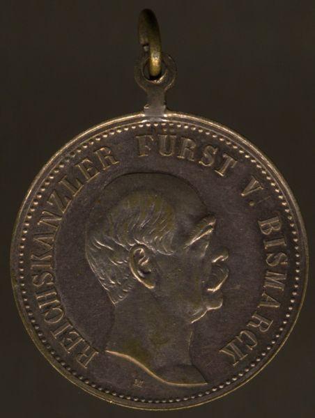 Medaille auf den Eisernen Kanzler Fürst Otto von Bismarck