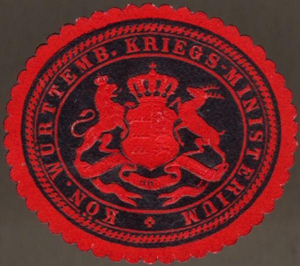 Siegelmarke des Königlich Württembergischen Kriegsministeriums