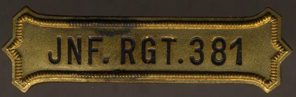Regimentskreuz-Spange des Infanterie-Regiments Nr. 381 (von Zenker / Hammerstein / von Nußbaum)