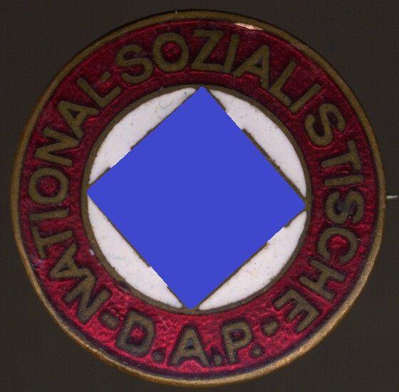 """NSDAP-Mitgliedsabzeichen / """"Parteiabzeichen"""" - Boerger & Co. / Berlin - früh (!)"""