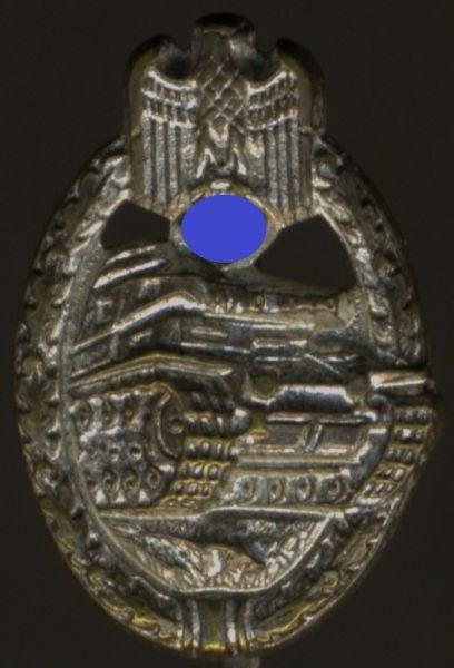 Miniatur - Panzerkampfabzeichen in Silber