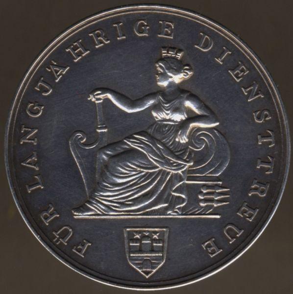 Hamburg, Silbermedaille der Patriotischen Gesellschaft für langjährige Diensttreue