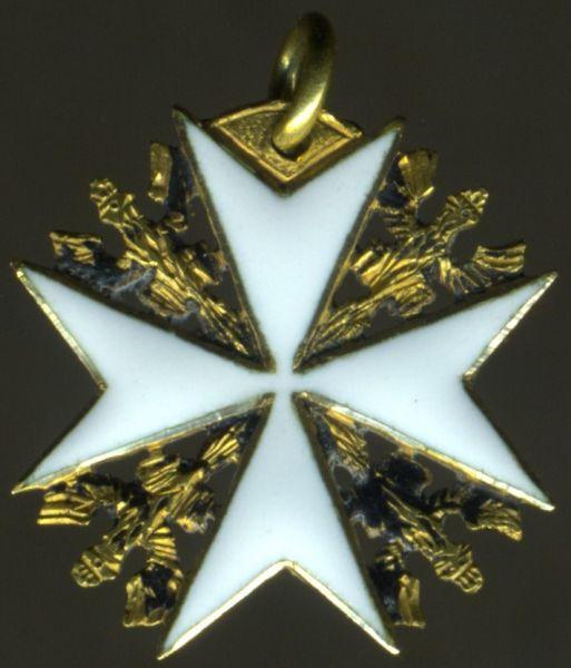 Miniatur - Preußen, Johanniter-Orden Kreuz der Ehrenritter