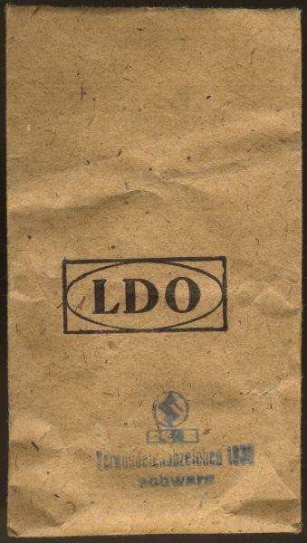 LDO-Tüte zum Verwundetenabzeichen 1939 in Schwarz - Steinhauer & Lück / Lüdenscheid