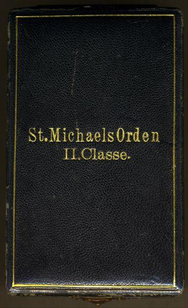 Etui zum Bayern, St. Michaels-Orden 2. Klasse - Eduard Quellhorst / München