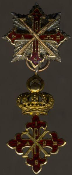 Miniatur - Königreich beider Sizilien / Italien, Konstantinischer Orden vom Hl. Georg Großkreuz-Satz