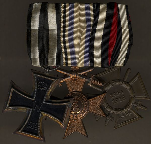 3er Ordensschnalle eines bayerischen Weltkriegsveteranen