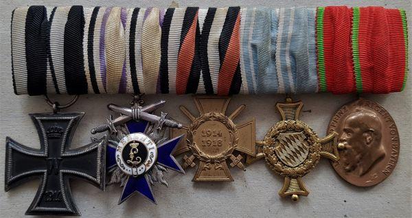 5er Ordensschnalle eines bayerischen Weltkriegs-Offiziers