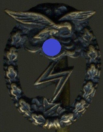 Miniatur - Erdkampfabzeichen