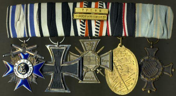 5er Ordensschnalle eines bayerischen Offiziers