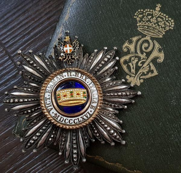 Italien, Orden der Krone von Italien Großkreuz-Stern mit Etui