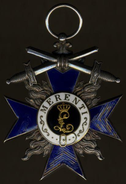 Bayern, Militär-Verdienstorden 4. Klasse - nachgerüstete Schwerter (!)