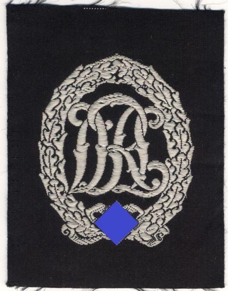 Stoff - Reichssportabzeichen in Silber