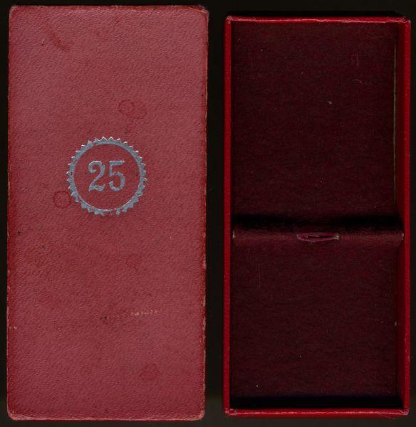 Schachtel zum Treuedienst-Ehrenzeichen 25 Jahre