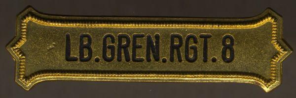 """Regimentskreuz-Spange des 1. Brandenburgischen Leib-Gren.-Rgt. """"König Friedrich Wilhelm III"""" Nr. 8"""