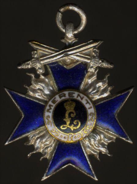 Miniatur - Bayern, Militär-Verdienstorden 4. Klasse mit Schwertern