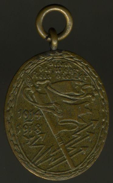 Miniatur - Kyffhäuserbund-Denkmünze für 1914/18