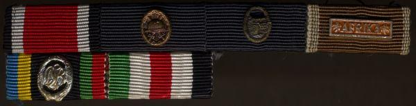 1957 - 6er Feldschnalle eines Veteranen des Afrikakorps