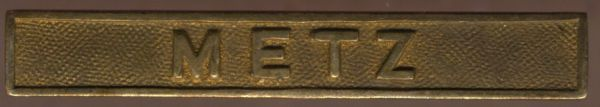 """Preußen, Gefechtsspange """"METZ"""" zur Kriegsdenkmünze 1870/71"""
