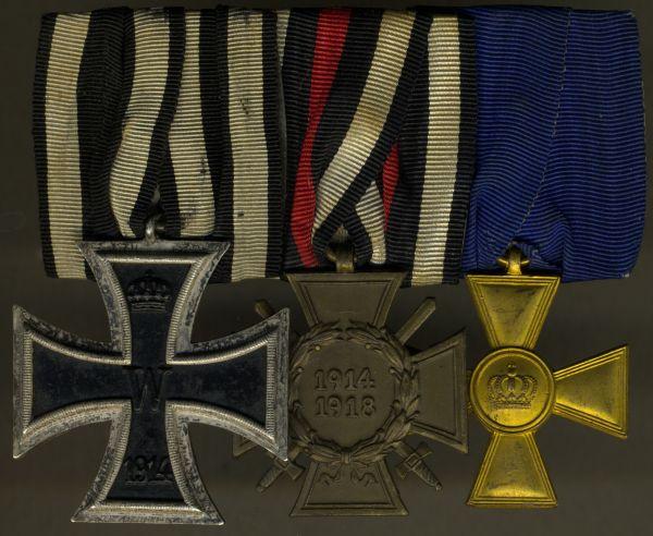 3er Ordensschnalle eines preußischen Weltkriegsveteranen