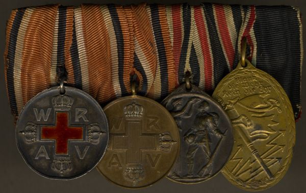 4er Ordensschnalle eines Nichtkämpfers des Weltkrieges