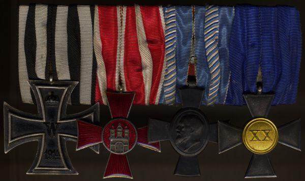 4er Ordensschnalle eines Landwehr-Offiziers WK1