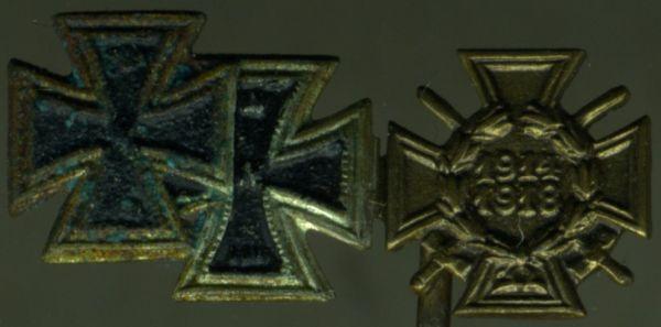3er Miniaturenspange eines Weltkriegsveteranen