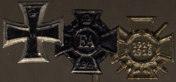 3er Miniaturenspange eines Weltkriegsveteranen mit Oldenburg