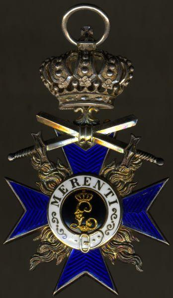 Bayern, Militär-Verdienstorden 4. Klasse mit Krone & Schwertern - Jacob Leser / Straubing