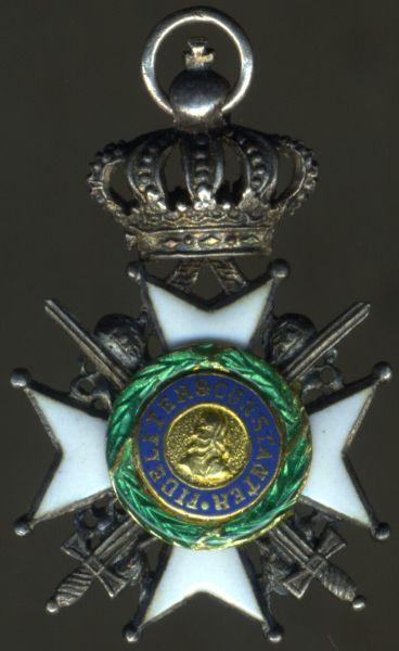 Miniatur - Sächsische Herzogtümer, Ernestinischer Hausorden Ritterkreuz 2. Klasse mit Schwertern