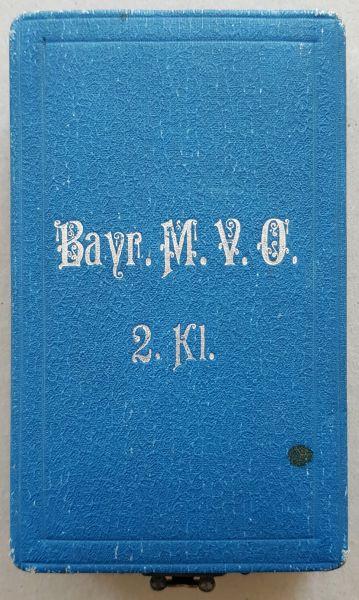 Etui zum Bayern, Militär-Verdienstorden 2. Klasse - Gebr. Hemmerle / München