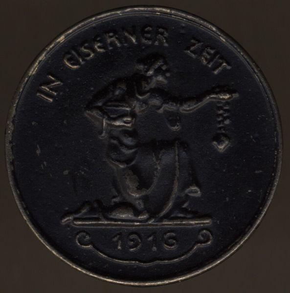 """Medaille """"IN EISERNER ZEIT 1916"""""""