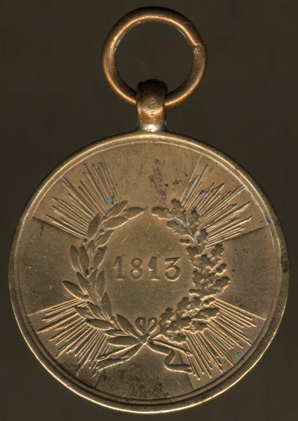 Preußen, Kriegsdenkmünze 1813 für Kämpfer