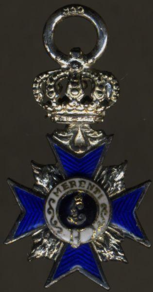Miniatur - Bayern, Militär-Verdienstorden 4. Klasse mit Krone