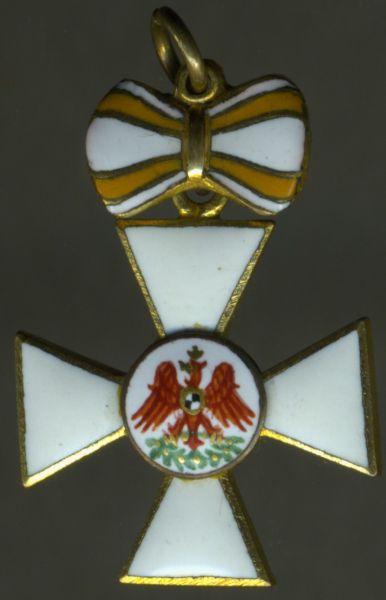 Miniatur - Preußen, Roter-Adler-Orden 3. Klasse mit Schleife