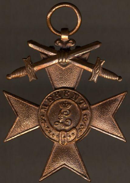 Bayern, Militär-Verdienstkreuz 3. Klasse mit Schwertern - Gebr. Hemmerle / München