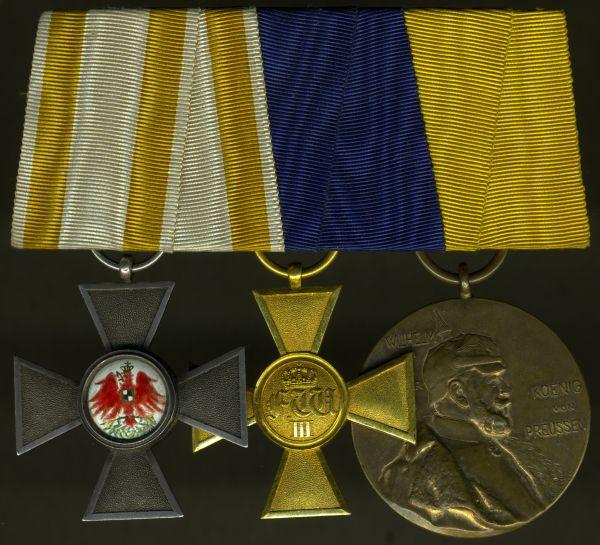 3er Ordensschnalle eines preußischen Offiziers