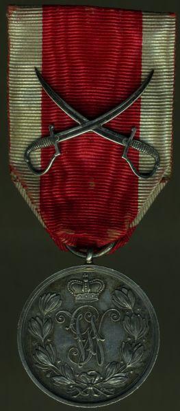 Schaumburg-Lippe, Militär-Verdienstmedaille mit gekreuzten Säbeln