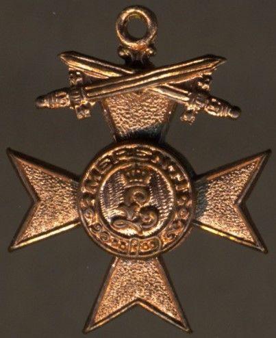 Miniatur - Bayern, Militär-Verdienstkreuz 3. Klasse mit Schwertern
