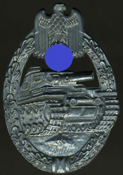 Panzerkampfabzeichen in Silber - Ferdinand Wiedmann / Frankfurt a. Main