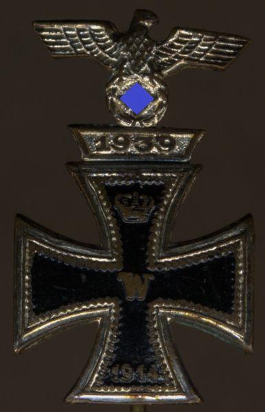 Miniatur - Eisernes Kreuz 1. Klasse 1914 mit Spange 1939 (1. Form)