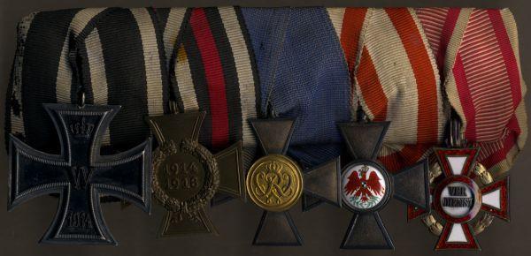 5er Ordensschnalle eines preußischen Offiziers